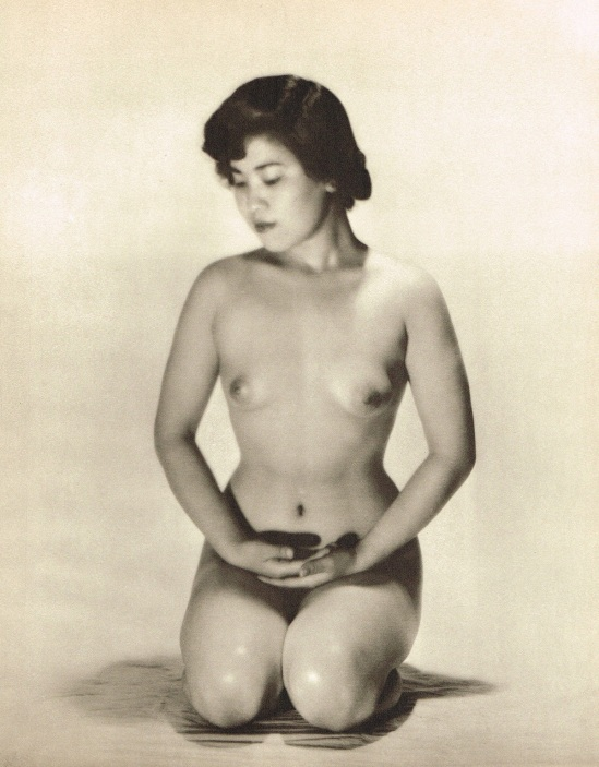 John Everard- kneeling Asian Filipino nude photogravure 1950Oriental Model Published by Robert Hale Ltd., London in 1955.