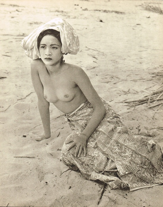 John Everard- Malay woman semi nude ,photogravure 1950 Oriental Model Published by Robert Hale Ltd., London in 1955.