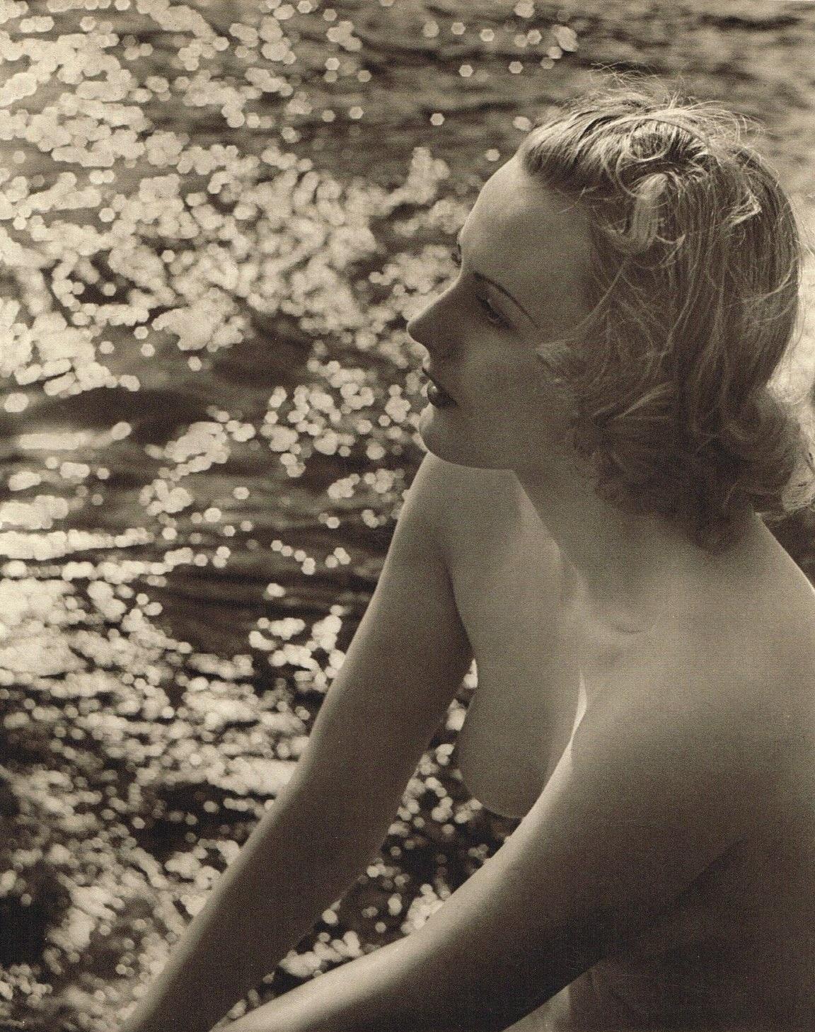 John Everard -Study of Nude -Nude Lady Beach Water) photogravure 1940