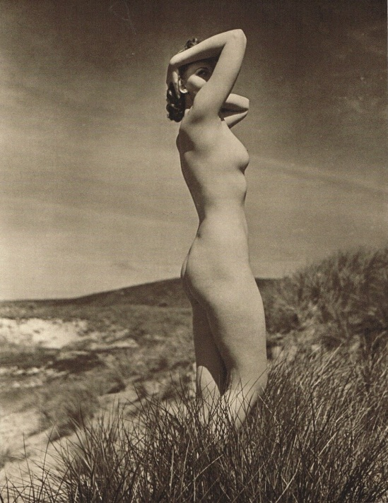 John Everard -Study of Nude -Nude Lady Beach Water) photogravure 1940