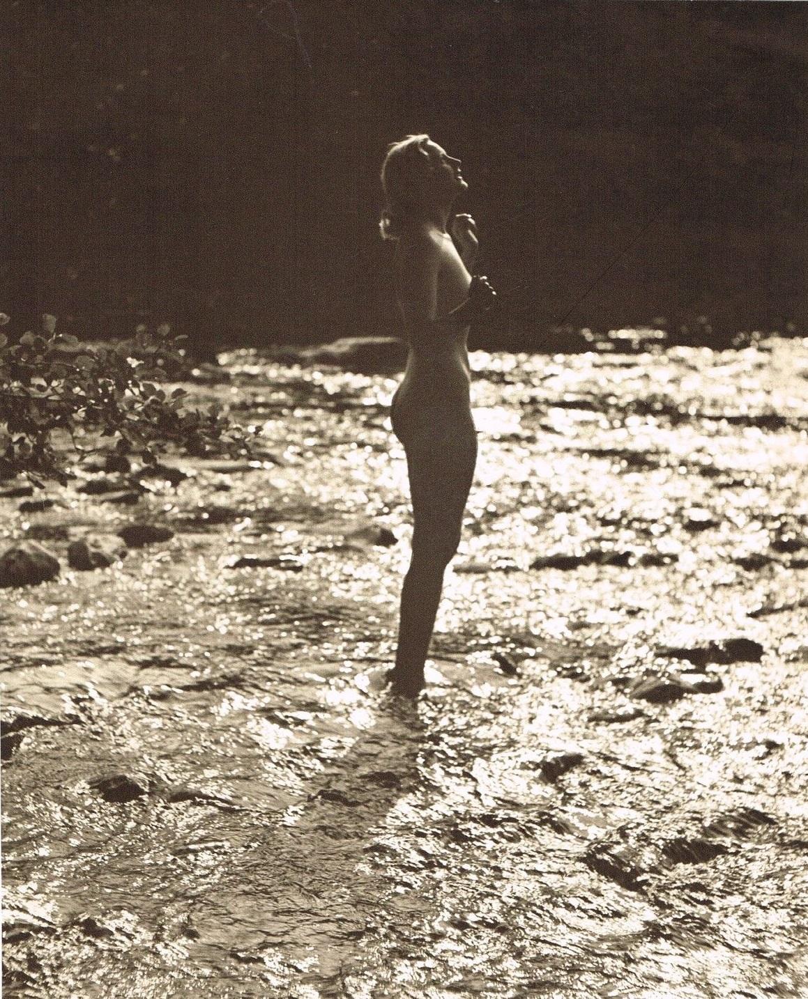 John Everard -Study of Nude Nude( Lady Beach Water) photogravure 1940