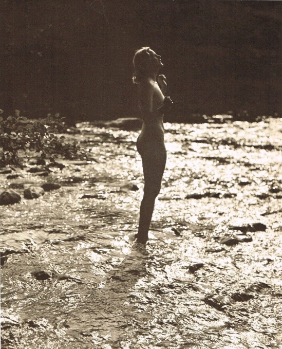 John Everard -Study of Nude Nude( Lady Beach Water) photogravure 1940