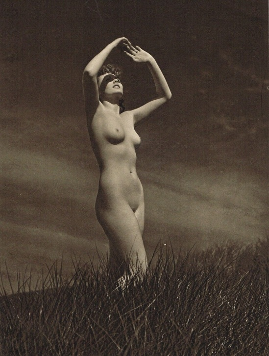 John Everard -Study of Nude (Nude Lady Outdoors ) photogravure 1940