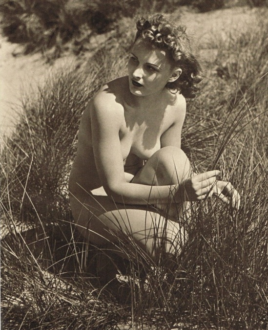 John Everard -Study of Nude Nude( Lady Reeds Beach) photogravure 1940 also published in Lifelines