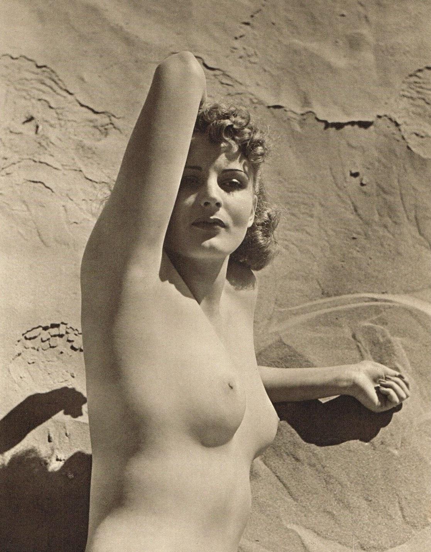 John Everard -Study of Nude (Nude Lady Sandy Beach ) photogravure 1940