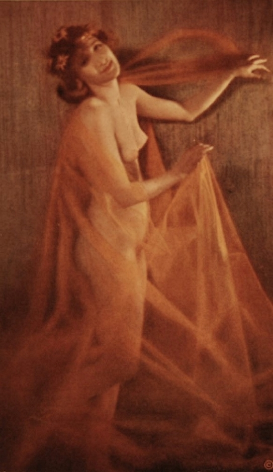 Karl F. Struss Nude Draped in Gauze, plate 32 from the Series, The Female Figure, 1917