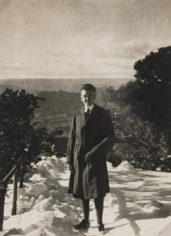 Karl F. Struss - Self-Portrait, Grand Canyon, nd