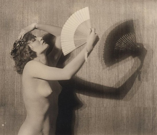 Karl F. Struss - Semi nude with a fan, 1915 From the Series, The Female Figure , 1917 published in Karl Struss. From 48 photographs of the female