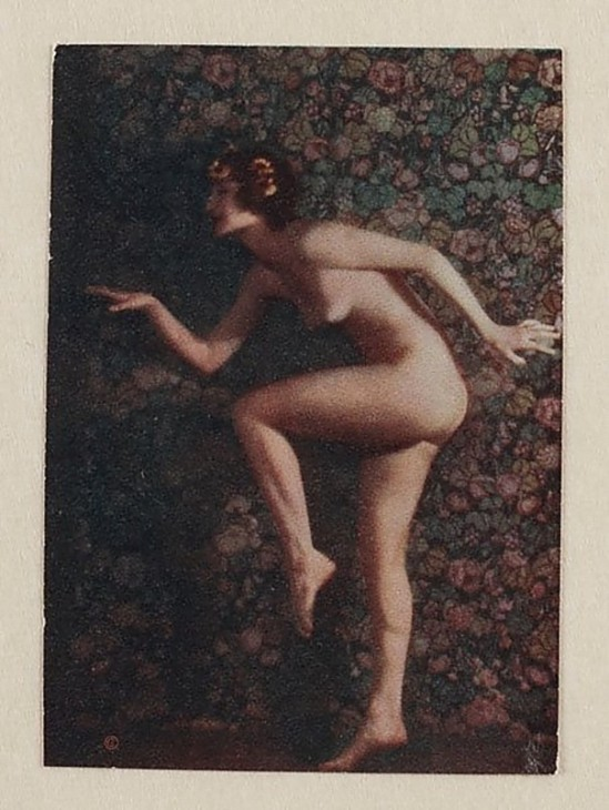 Karl F. Struss- Untitled, From the Series, The Female Figure (Nude in Profile Walking like an Egyptian), 1917  published in 48 photographs of the female