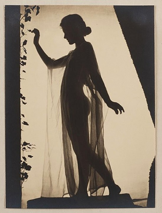 Karl F. Struss- Untitled, From the Series, The Female Figure (Standing Nude With Drapery), 1917 1MURAY, NICHOLAS_e