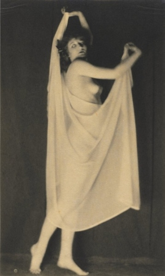 Karl F. Struss   Untitled, (Standing Nude With Drapery), 1917published in 48 photographs of the female