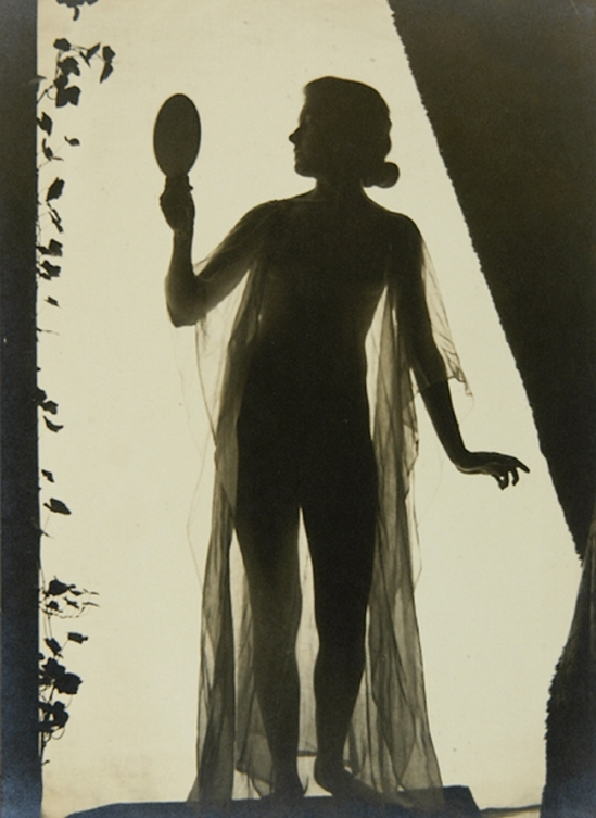 Karl F. Struss- Untitled, From the Series, The Female Figure (Standing Nude With Drapery), 1917 1MURAY, NICHOLAS published in Karl Struss. From 48 photographs of the female