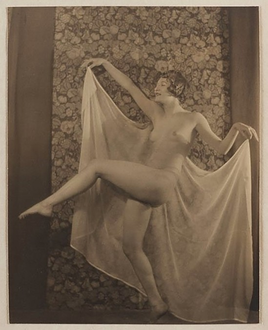 Karl Struss -Nude Kicking,  From the Series, The Female Figure ,1917published in 48 photographs of the female figure