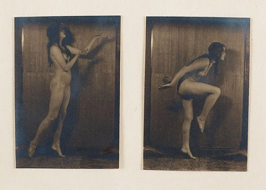 Karl Struss -Nudes Kicking,  From the Series, The Female Figure ,1917published in 48 photographs of the female
