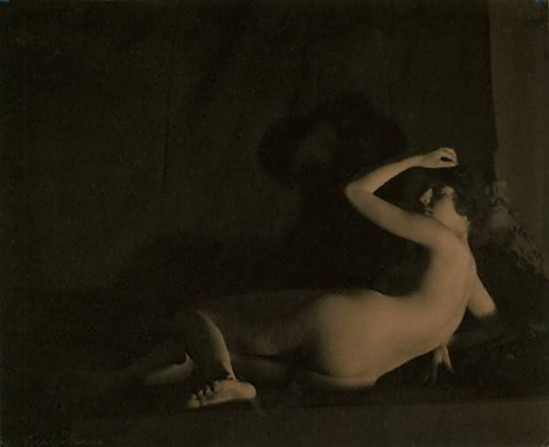 Karl Struss- Reclining Nude ,1917 From the Series, The Female Figure , 1917 published in Karl Struss. From 48 photographs of the female