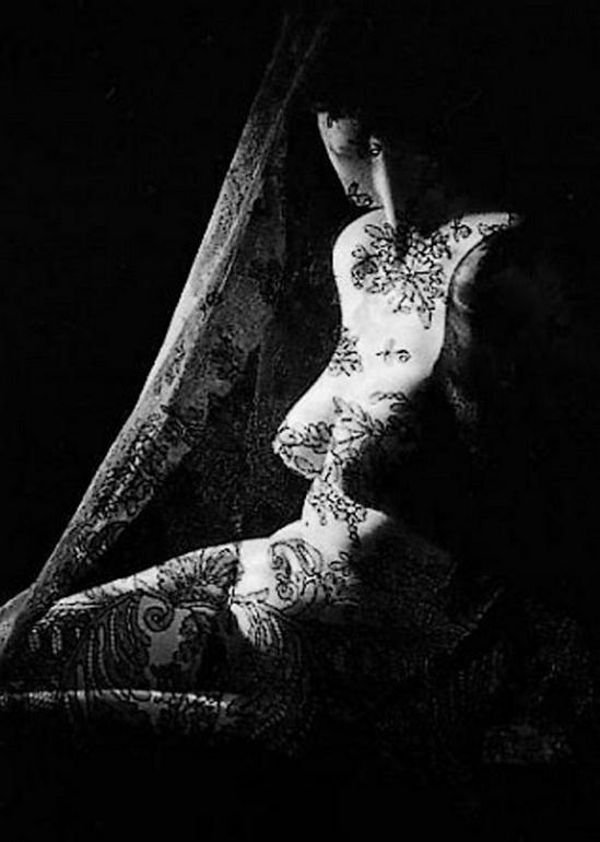 Marcel G. Lefrancq – Nu à la dentelle, 1955