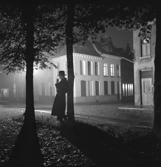 Marcel-G. Lefrancq -Parc de Mons la nuit, 1938