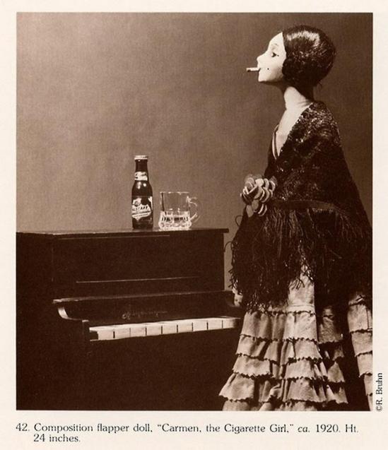 R. Bruhn- Composition flapper Doll Carmen the Cigarette Girl 1920