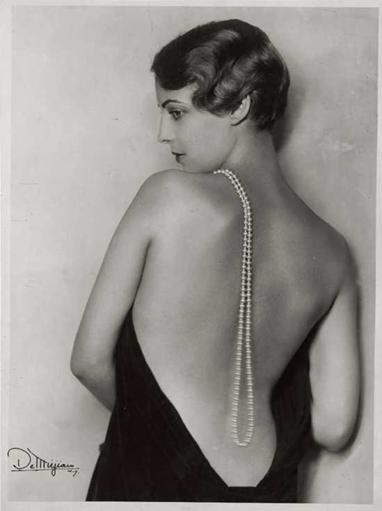 Studio de Mirjian -Photography by Arto de Mirjan (John de Mirjian's brother)-Joan Kent,with pearls In Arthur Hammerstch's musical play, 1930