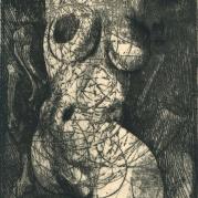 Ernst Fuchs - Hochzeit des Todes - Deadly Vows - Etching for Die Symbolik des Traumes Belser Verlag, Stuttgart; Limited Edition (1968)