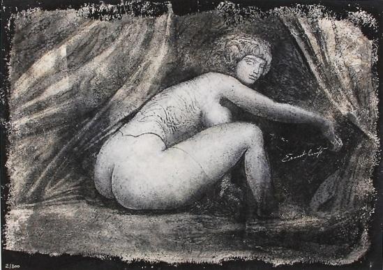 Ernst Fuchs -Vorhang auf  (Giclee sur des lignes) , 2012 Galerie-F