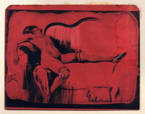 Georg Erler- Nu couché sur une chaise longue, nd ( vers 1920)