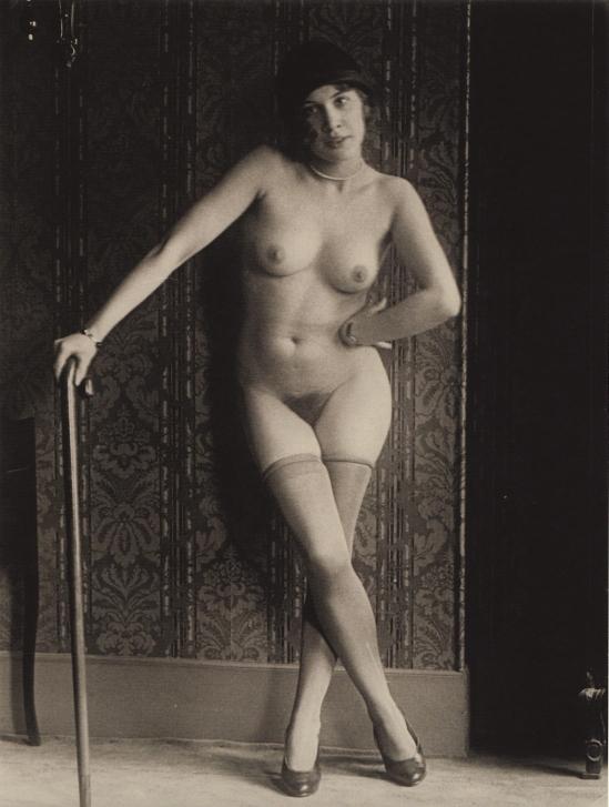 Monsieur X Femme à la canne 1930