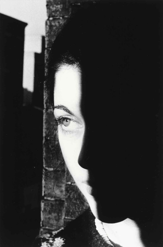 Ralph  Gibson -Woman's Face with Shadow (from the portfolio 'If & (Silk)'), 1974
