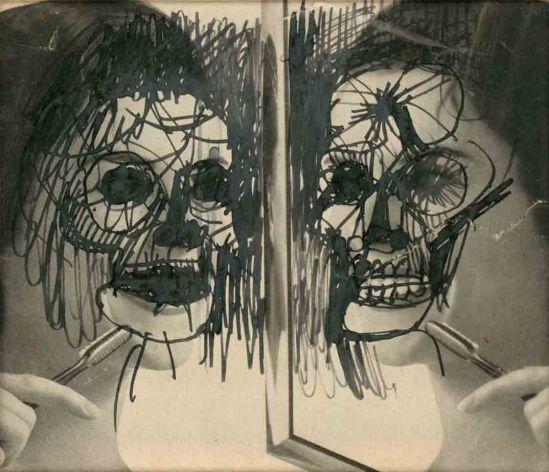 Stan VanDerBeek- (death), photo painting 1964-67