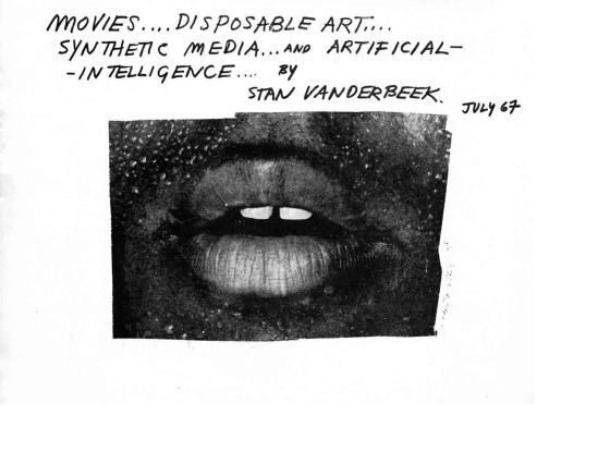 Stan VanDerBeek- Movies disposable art synthetic media and intelligence , 1964 crop
