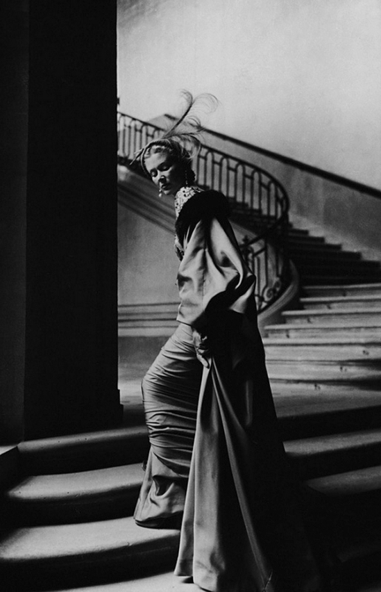 Fernand Fonssagrives-  Lisa Fonssagrives for  Jacques Fath Collection's, 1949