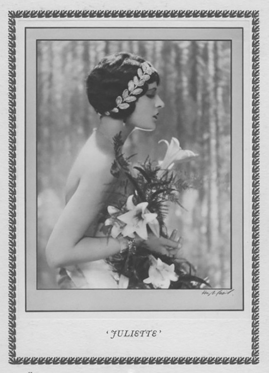 Hugh Cecil- Juliette Compton héliogravure , 1926