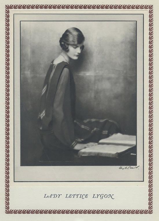 Hugh Cecil-Lady Lettice Lygon héliogravure , 1926