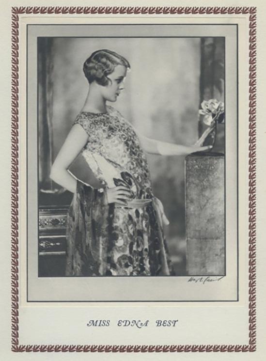 Hugh Cecil-Mlle Edna Best héliogravure , 1926