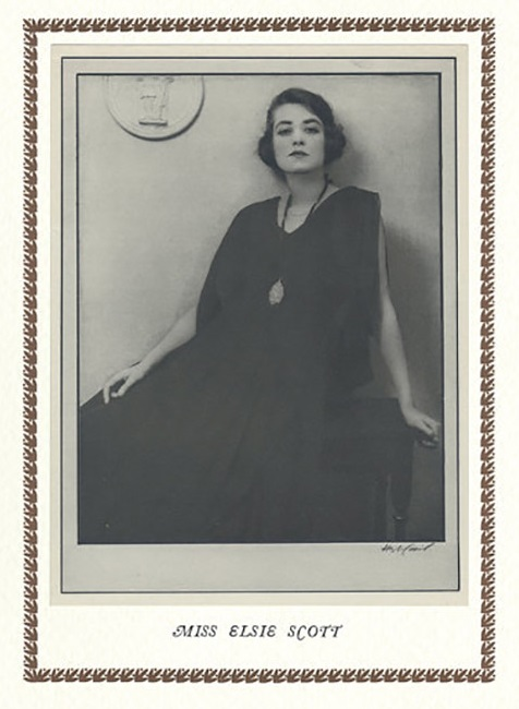 Hugh Cecil-  Mlle Elsie Scott héliogravure , 1926 , héliogravure , 1926