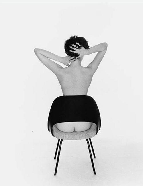 Sitting Pretty Peek-A-Boo Chair, 1956 Photographer Fernand Fonssagrives