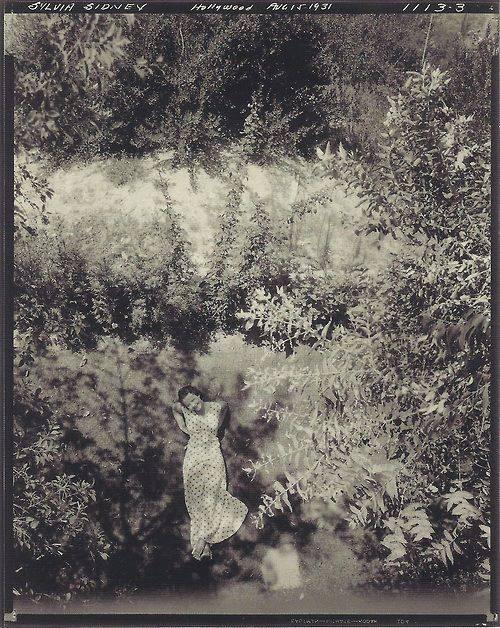 Edward Steichen- The American actress Silvia Sidney, 1931