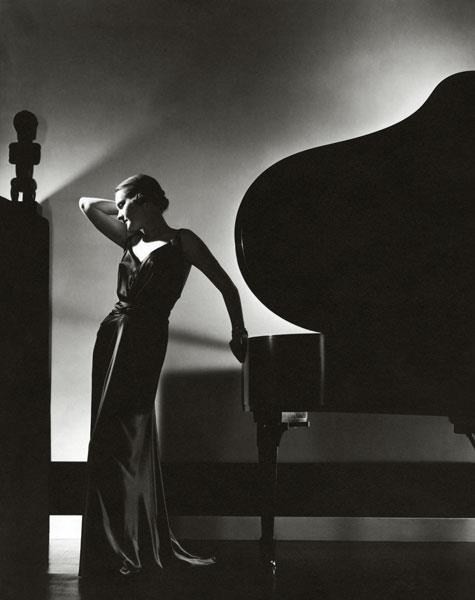 Edward Steichen -model Margaret Horan in a black {dress by Jay-Thorpe}, for Vogue,1935