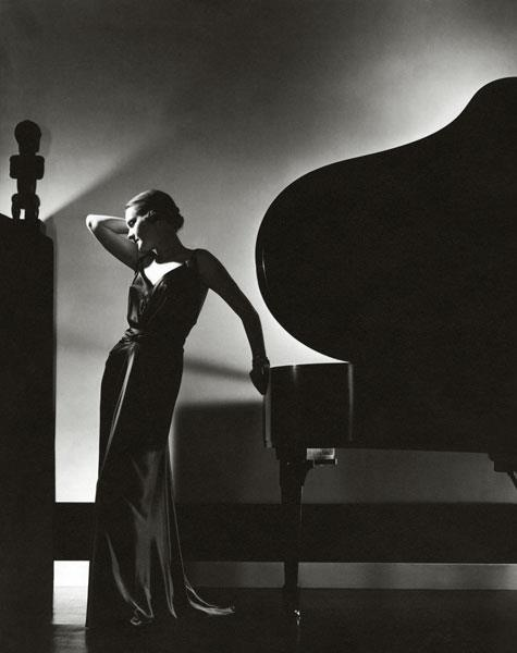 Edward Steichen -model Margaret Horan in a black {dress by Jay-Thorpe}, for Vogue,1935