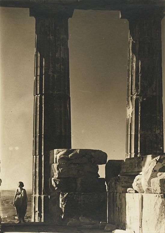 Edward Steichen- Isadora Duncan at the Portal of the Parthenon, Athens,1921