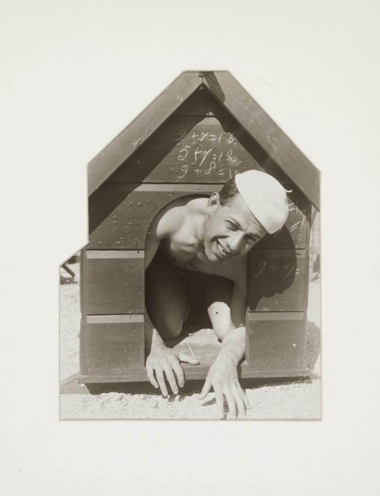 Erwin Blumenfeld Paul Citroën in Dog House c. 1930