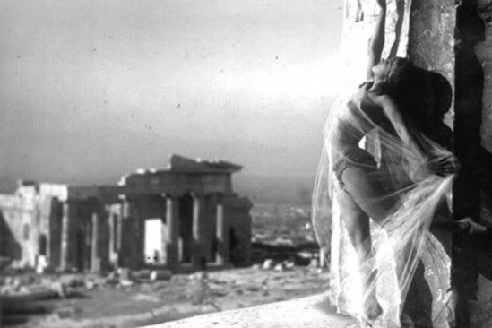 Nelly's [Elli Souyioultzoglou-Seraidari] -Nikolska, a hungarian dancer at the Parthenon, Acropolis-Athens, Greece -1929