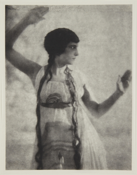 Adolf de Meyer-Maenad, 3-4 length, frontal, from Nijinsky,  L'Apres-midi d'un Faune, 1912 Palladium print