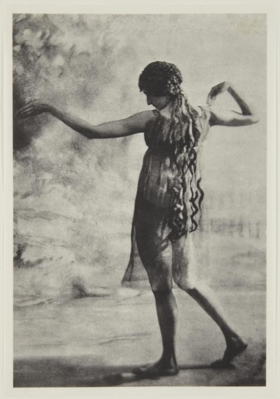 Adolf de Meyer-Maenad, back view, from Nijinsky,  L'Apres-midi d'un Faune, 1912 Palladium print