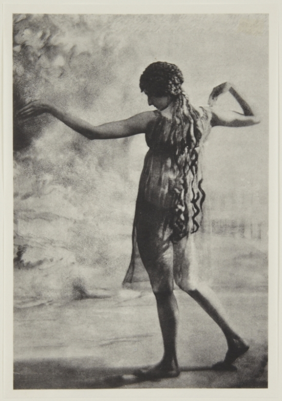 Adolf de Meyer-Maenad, back view, from Nijinsky,  L'Apres-midi d'un Faune, 1912 Palladium print