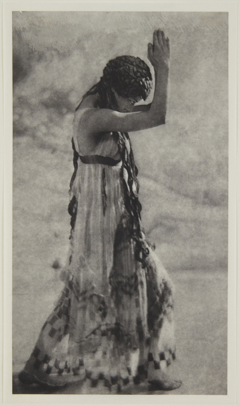 Adolf de Meyer-Maenad dancing, from Nijinsky,  L'Apres-midi d'un Faune, 1912 Palladium print