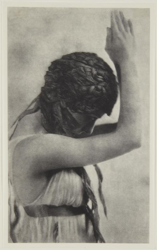 Adolf de Meyer-  Maenad dancing, half-length, from Nijinsky,  L'Apres-midi d'un Faune, 1912 Palladium print