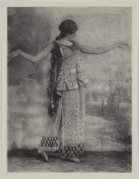 Adolf de Meyer-   maenad,, from Nijinsky,  L'Apres-midi d'un Faune, 1912 Palladium print