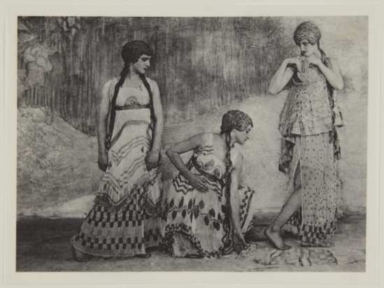 Adolf de Meyer-  Three maenads, from Nijinsky,  L'Apres-midi d'un Faune, 1912 Palladium print