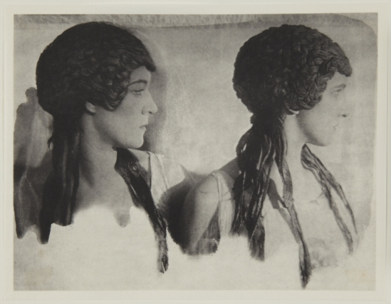 Adolf de Meyer-Two maenads, bust-length, from Nijinsky,  L'Apres-midi d'un Faune, 1912 Palladium print